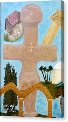 Larnaca Canvas Print - The Cross-like Idol Of Pomos by Augusta Stylianou