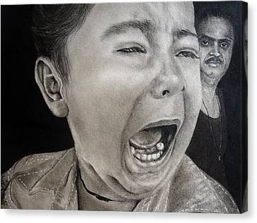 The Crying Child Canvas Print