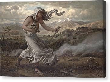 The Cumaean Sibyl Canvas Print by Elihu  Vedder