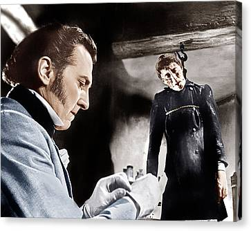 The Curse Of Frankenstein, From Left Canvas Print by Everett