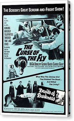 The Curse Of The Fly, 1965 Canvas Print by Everett