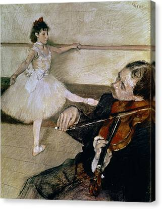 Violin Canvas Print - The Dance Lesson by Edgar Degas