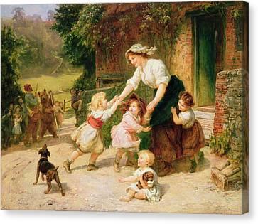 The Dancing Bear Canvas Print by Frederick Morgan