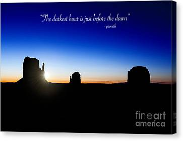 The Darkest Hour..... Canvas Print by Jane Rix
