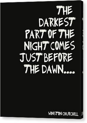 The Darkest Part Of The Night Canvas Print by Georgia Fowler