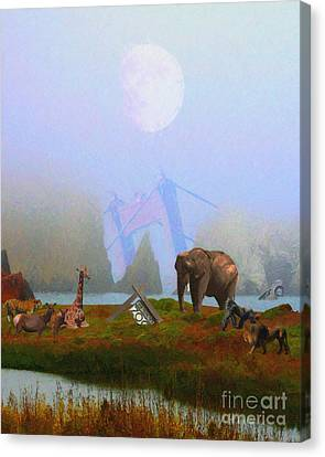 The Day After Armageddon At The San Francisco Zoo Canvas Print by Wingsdomain Art and Photography