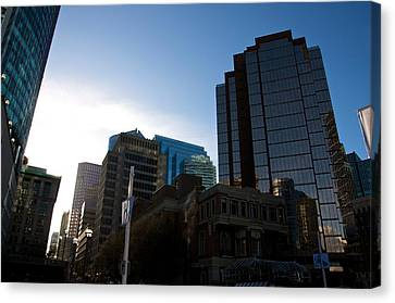 Canvas Print featuring the photograph The Day Begins Vancouver Canada by JM Photography