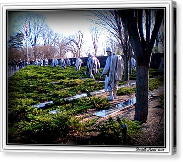 Canvas Print featuring the photograph The Dc War Memorials Washington  D.c. by Danielle  Parent