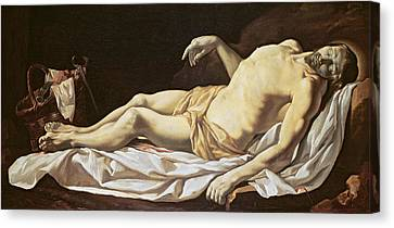 The Dead Christ Canvas Print by Charles Le Brun