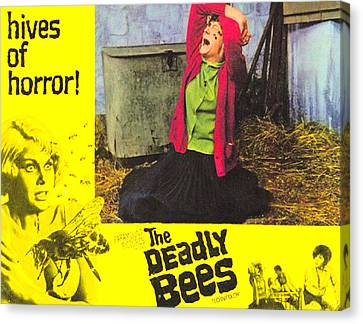 The Deadly Bees, Catherine Finn, 1967 Canvas Print by Everett