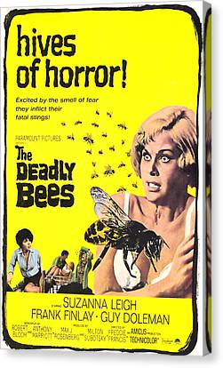 Covering Up Canvas Print - The Deadly Bees, From Left Katy Wild by Everett