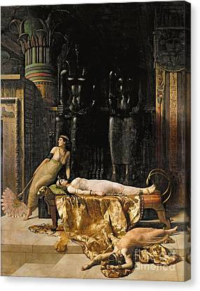 Collier Canvas Print - The Death Of Cleopatra  by John Collier
