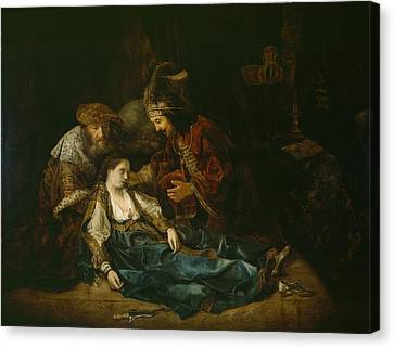 The Death Of Lucretia - Mid 1640s  Canvas Print