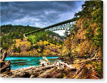Oak Harbor Canvas Print - The Deception Pass Bridge II by David Patterson