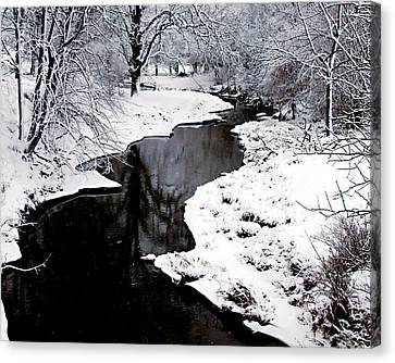 The Deep And Snowy Creek Canvas Print
