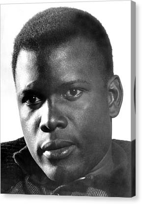The Defiant Ones, Sidney Poitier, 1958 Canvas Print by Everett