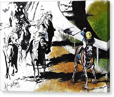 The Derby Canvas Print by Amanda  Sanford