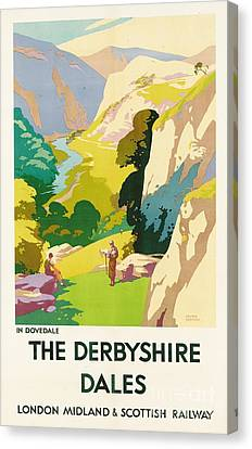 Hill District Canvas Print - The Derbyshire Dales by Frank Sherwin