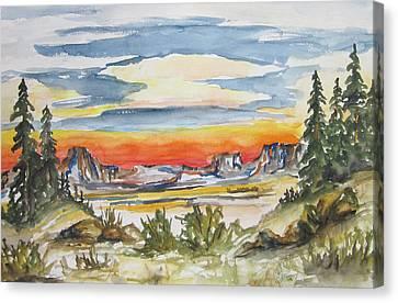 The Desert Long Forgotten-wcs Canvas Print by Cheryl Pettigrew
