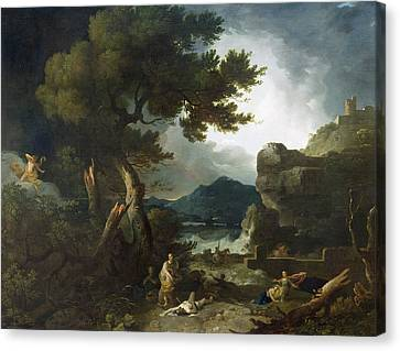 The Destruction Of Niobe's Children Canvas Print by Richard Wilson