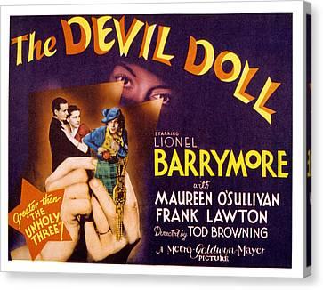The Devil Doll, Frank Lawton, Maureen Canvas Print
