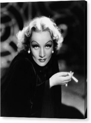 The Devil Is A Woman, Marlene Dietrich Canvas Print by Everett