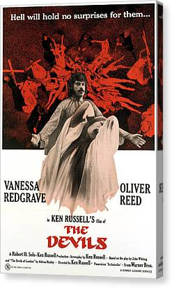 The Devils, Oliver Reed Back, Vanessa Canvas Print