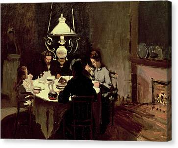 The Dinner Canvas Print by Claude Monet