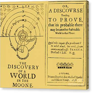 The Discovery Of A World In The Moone Canvas Print by Science Source