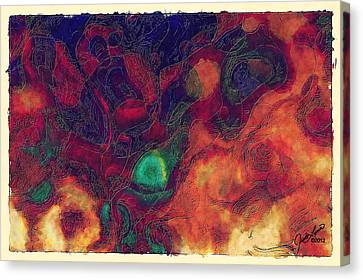 The Discussion Canvas Print by The Art Of JudiLynn