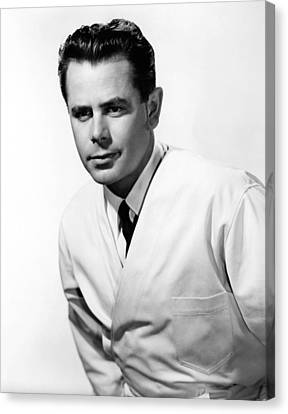 The Doctor And The Girl, Glenn Ford Canvas Print by Everett