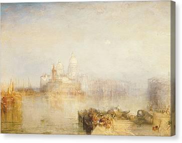 San Marco Canvas Print - The Dogana And Santa Maria Della Salute Venice by Joseph Mallord William Turner