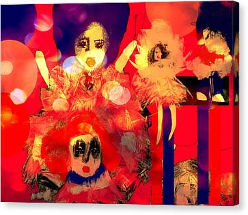 Canvas Print featuring the digital art The Dolls Are Out by Rc Rcd
