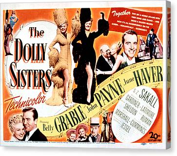 The Dolly Sisters, Betty Grable, June Canvas Print by Everett