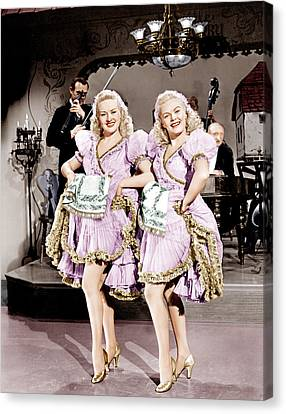 The Dolly Sisters, From Left Betty Canvas Print by Everett