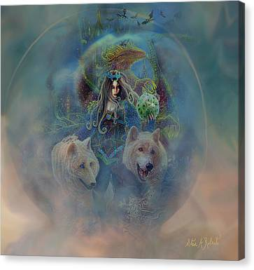 Canvas Print featuring the painting The Dragons Egg by Steve Roberts