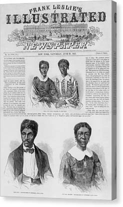 The Dred Scott Family On The Front Page Canvas Print by Everett