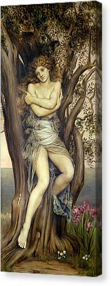 The Dryad Canvas Print by Evelyn De Morgan