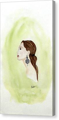 Canvas Print featuring the painting The Earring by Alethea McKee