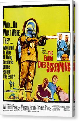 The Earth Dies Screaming, 1964 Canvas Print by Everett