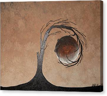 Canvas Print featuring the painting The Earth Element by Edwin Alverio