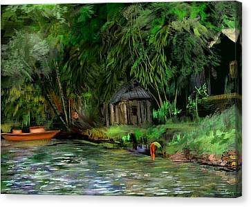 The Eco Village Canvas Print