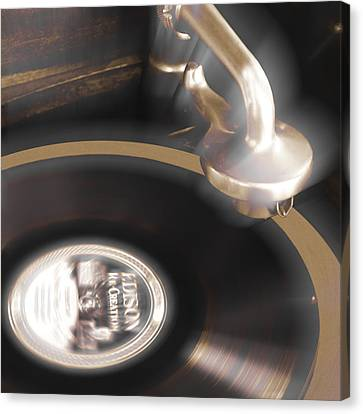 The Edison Record Player Canvas Print by Mike McGlothlen