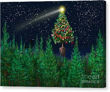 The Egregious Christmas Tree Classic Landscape Canvas Print by Russell Kightley
