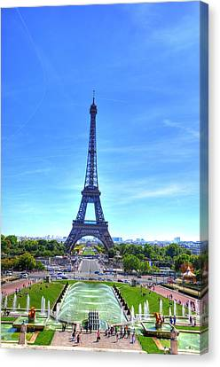 The Eiffel Tower Canvas Print by Barry R Jones Jr