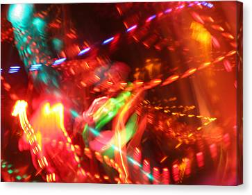 The Electric Cosmos      Nebula Traffic Jam Canvas Print by Artist Orange