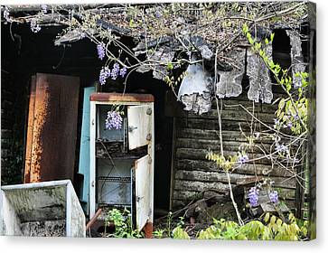 Abandoned House Canvas Print - The Empty Fridge by JC Findley