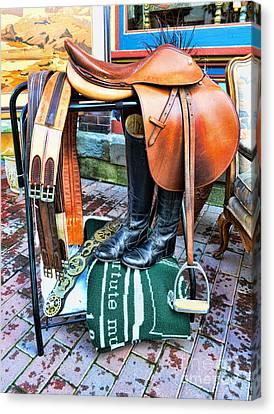 The English Saddle Canvas Print by Paul Ward