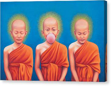 The Enlightened One Canvas Print by Alessandra  Desole