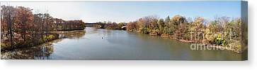 Canvas Print featuring the photograph The Erie Canal Crossing The Genesee River by William Norton